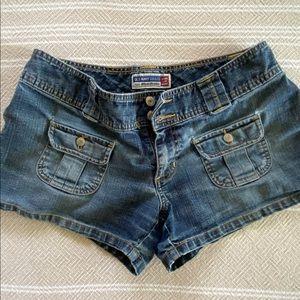 Vintage Old Navy denim ultra low-waist shorts